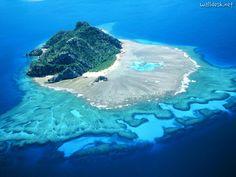 Wallpapers Monuriki Island, Mamanucas, Fiji, papeis desktop image Tropical Islands Nature