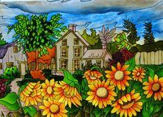Peinture acrylique sur toile d butant recherche google for Peinture acrylique