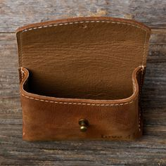 Leather Essential Oil Pouch in tobacco brown