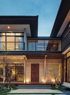 Sukhumvit 64 House - All For Garden Architecture Design Concept, Tropical Architecture, Modern Architecture House, Facade Design, Residential Architecture, Sustainable Architecture, Pavilion Architecture, Modern Tropical House, Tropical House Design