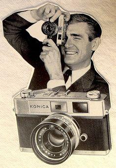 Vintage Advertisement 1960s Konica Camera
