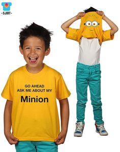 Cool Minion Kinder t-shirt   'despicable me'   Nieuw kinderkleding merk: Sjirt   nu vekrijgbaar bij www.kienk.nl