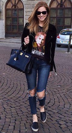 chiara ferragni jeans   1000+ images about Denim Dreams on Pinterest   Overalls ...
