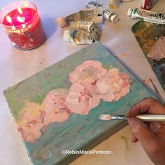 Robin Maria Pedrero Blog: First Painting of 2016 a floral of Peonies