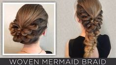 24 Beautiful Bridesmaid Hairstyles For Any Wedding - Woven Mermaid Braid- Beautiful Step by Step Tutorials and Ideas for Weddings. Awesome, Pretty How To Guide and Bridesmaids Hair Styles. These are Easy and Simple Looks for Short hair, Long Hair and Medium Length Hair - Cool Ideas for Hair at Parties, Special Events and Prom