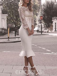Gala Dresses, Satin Dresses, Evening Dresses, Gowns, Elegant White Dress, Elegant Dresses, Beautiful Dresses, Long Sleeve Mermaid Dress, Mermaid Dresses