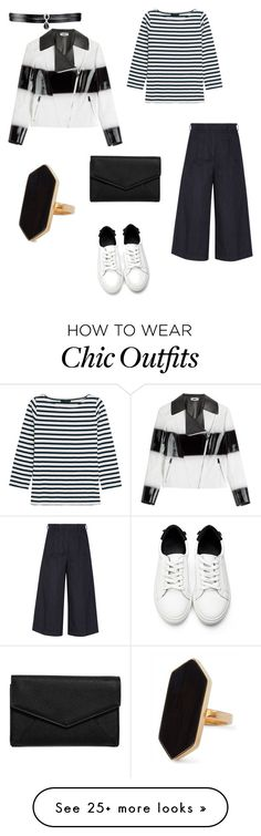"""Black And White"" by thu-nhim on Polyvore featuring J.Crew, Fallon, Iris & Ink, Fendi, Jaeger and LULUS"