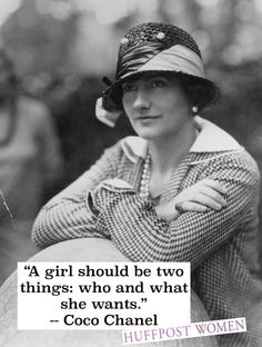 Happy Birthday, Coco Chanel! What a creative individual~so fashion- minded!