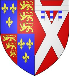 Anne_Neville's coat of arms as Queen Consort and Lady of Ireland