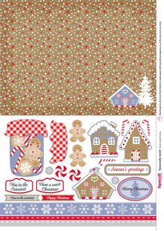 Free gingerbread printable papers from Papercraft Inspirations 172 - Papercraft Inspirations