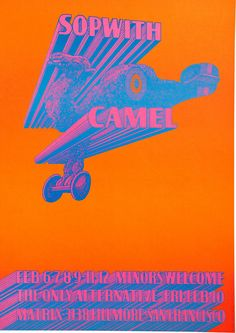 Sopwith Camel Concert Poster (Neon Rose, 1967) Victor Moscoso/Paul Kagen