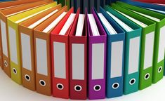 Colorful Binders #organize #organization
