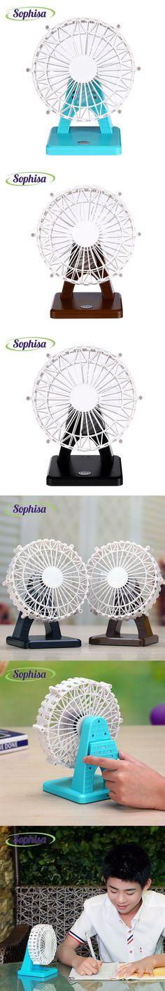 Sophisa wheel shape handheld mini fan usb portable fan desk rechargeable air conditioner for Office home small fan SPMINIFAN01