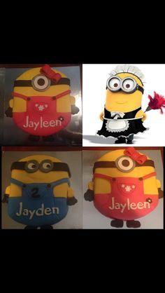 My minion cakes