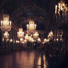 I've seen Versailles during the day. I want to see it at night! Versailles Hall Of Mirrors, Palace Of Versailles, Cherry Blossom Girl, Glamour, Travel Inspiration, Wedding Inspiration, Places To Go, Beautiful Places, Beautiful Homes