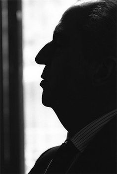 Alfred Hitchcock by Jeanloup Sieff