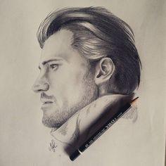 Nikolaj Coster-Waldau fast draw! Jamie Lannister in Game Of Thrones  1h30min 2B   4B pencils