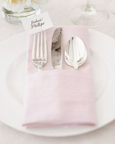 Napkin Place Card placement instead of tent place cards