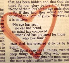 No eye has seen, no ear has heard, no mind has conceived what God has prepared for those who love Him. - 1 Corinthians 2:9