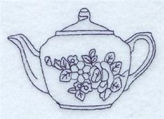Rosa Teapot (CD040110TL) Embroidery Design by Starbird Inc.
