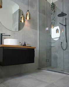 Grey Bathroom Renovation Ideas: bathroom remodel cost, bathroom ideas for small bathrooms, small bathroom design ideas Laundry In Bathroom, Bathroom Renos, Bathroom Layout, Bathroom Interior Design, Bathroom Flooring, Bathroom Ideas, Bathroom Grey, Bathroom Designs, Bathroom Large Tiles