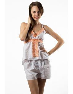 Zega Store - Pijamale Mushroom,culoarea alba - Femei, Pijamale Rompers, Dresses, Fashion, Gowns, Moda, Jumpsuits, Fashion Styles, Romper Clothing, Romper Suit