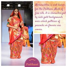 The Maharashtrian Paithani - Gaurang Shah Bangalore Fashion Week Indian Beauty Saree, Indian Sarees, Silk Sarees, Indian Attire, Saree Styles, Indian Fashion, Women's Fashion, Signature Style, Saree Blouse