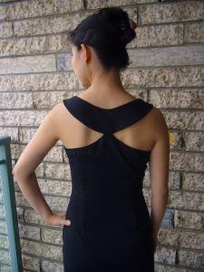 LBD/Audrey Hepburn dress. Free PDF, size 32. Basic pattern but minimal markings, not recommended for beginner.