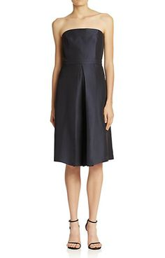 Lulu Strapless Jacquard Culotte Dress