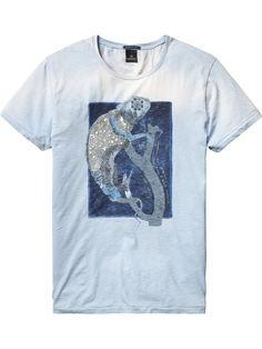 Blue Tones Artwork T-Shirt | T-shirt s/s | Men's Clothing at Scotch & Soda