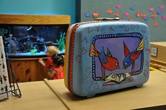 painted suitcase, awesome!