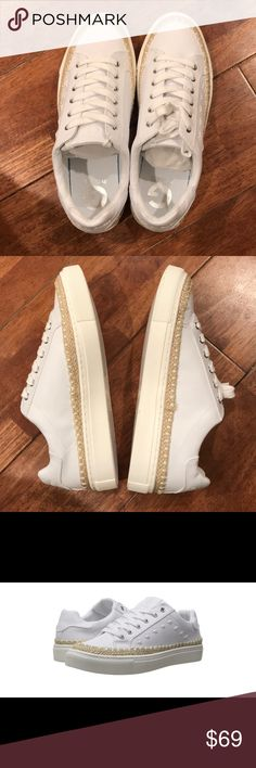 Guess White Sneakers New, with box G by Guess Shoes Sneakers