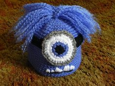 Cute, Cuddly, Evil, and Purple Mischievous Minions! This item can be made with one eye or two. *Shown in 3-6 month size. I crochet these items on a by-sale basis so please allow one to three days for the item to be sent out.  My items are made in a pet-free, smoke-free home  *If you have a head measurement available, please make a note of it either when you purchase or send me a conversation message. That way I can make it fit the intended recipient perfectly. Thank you! Thanks for stopping…