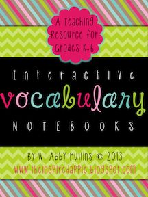 The Inspired Apple: Interactive Vocabulary Notebooks!