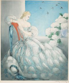 "Louis Icart  - ""Symphony in Blue"" by sofi01, via Flickr"