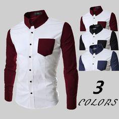 2016 Stylish Patchwork Long Sleeve Shirts – eDealRetail