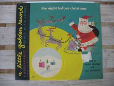 Vintage Christmas The night Before Christmas Record 1949 Ghost Of Christmas Past, The Night Before Christmas, Vintage Christmas, Song Night, Please Remember Me, Wonderful Picture, Vintage Items, House, Etsy