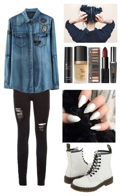 """""""I  W A N T  T O  B E  Y O U R S"""" by pizzzzzaaaaaaaa ❤ liked on Polyvore featuring Dr. Martens, Too Faced Cosmetics, Urban Decay, NARS Cosmetics and Arbonne"""