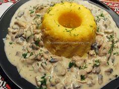 Ciulama de ciuperci cu mamaliguta, poza 1 Romanian Food, Romanian Recipes, Recipes From Heaven, Risotto, Mashed Potatoes, Food And Drink, Cooking Recipes, Ethnic Recipes, Food Heaven