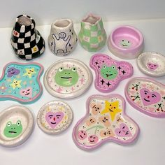 Ceramic Clay, Ceramic Pottery, Pottery Art, Pottery Painting, Polymer Clay Crafts, Diy Clay, Keramik Design, Clay Art Projects, Cute Clay