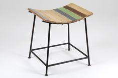 Taburete vintage industrial multicolor   Material: madera tropical y patas de metal (hierro)... Eur:93 / $123.69