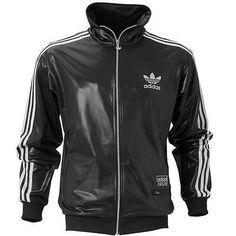 New mens adidas originals chile 62 track top medium (m) black jacket rrp £55 e9f83dbad2