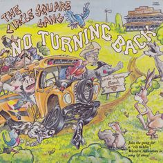 The Circle Square Gang - No Turning Back Lp Cover, Lps, Turning, Westerns, Comic Books, Adventure, Woodturning, Comic Book
