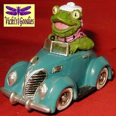 """Fosgood Frog in '38 """"Fraud"""" Ford Blue Car Bank Late Dave Big Deal 2007 