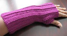 Crochet Fingerless Gloves ~ free pattern