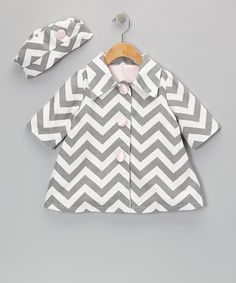 Take a look at this Caught Ya Lookin' Gray Zigzag Coat & Hat - Infant & Toddler on zulily today!