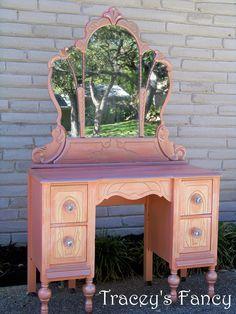 Vintage Cottage Vanity - MADE TO ORDER. $650.00, via Etsy.