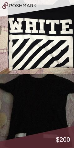 Off WHITE T SHIRT Good condition price negotiable Large out fits medium and small to get a nice over sized look but not too oversized Off-White Tops Tees - Short Sleeve
