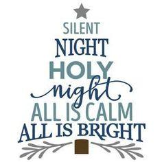 Silhouette Design Store - View Design #105250: silent night christmas tree