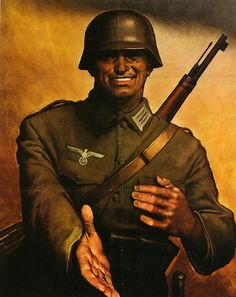 """Germany Is Truely Your Friend""    Poster used in Italy in 1944. Looks like a friendly bloke."